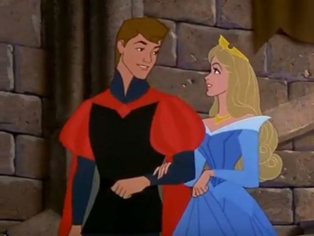 It was Prince Phillip, who at least has slightly more of profile than Snow White and Cinderella's princes!