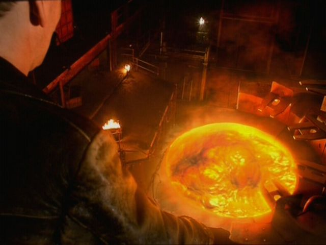"In the Ninth Doctor's first episode he defeats the ______ with ""anti-plastic""."