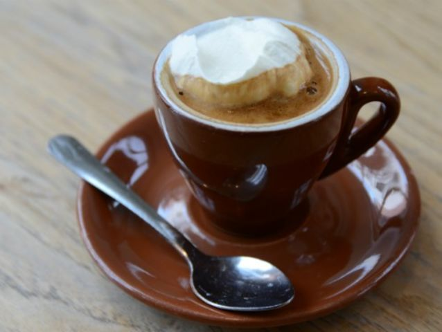 A customer orders 2 oz. espresso topped with 3 oz. whipped cream. What are you making for them?
