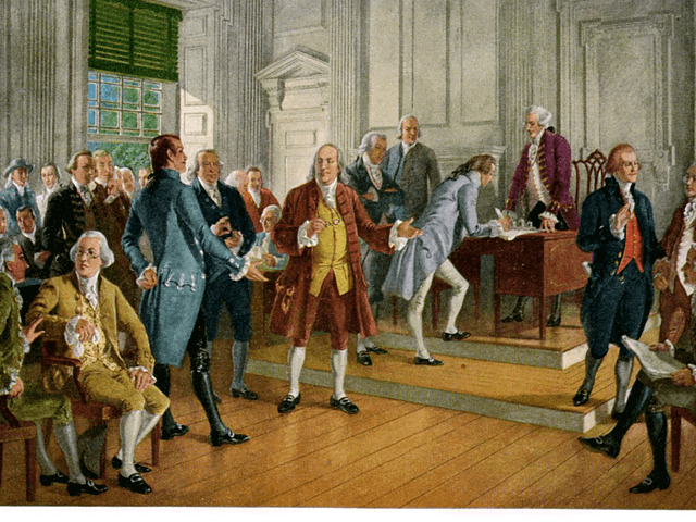 The average age of the signers of the Declaration of Independence was 45.
