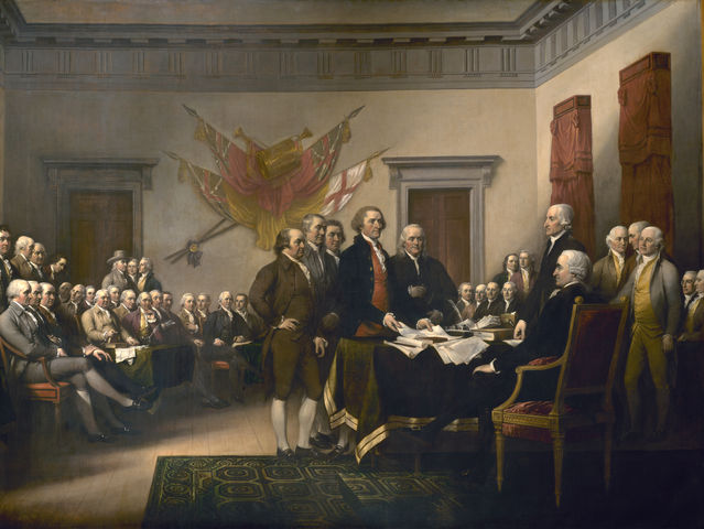 Everyone signed the Declaration of Independence on July 4, 1776.