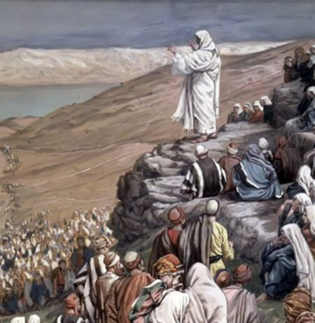 Seeing the crowds he went up on the mountain & when he sat down his disciples came to him & he taught them...
