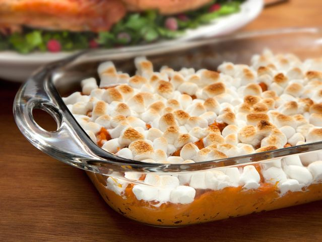 In ____________, sweet potatoes are usually topped with marshmallows.