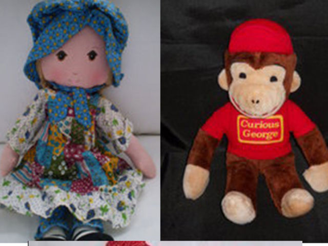 Knickerbocker made Holly Hobbie, Raggedy Ann and Raggedy Andy, Curious George, Snoopy and Cookie Monster in Middlesex; Winnie the Pooh was licensed to another company.