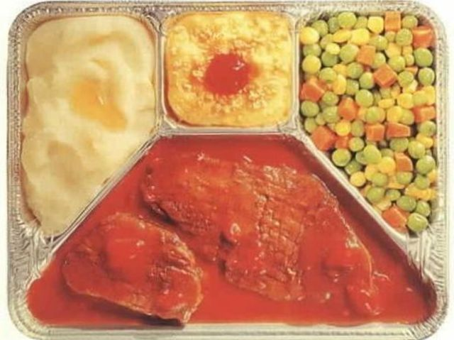 TV dinners were the brainchild of William Maxson who set up a company to make prepared frozen dinners in West Orange in 1935. Which of the following was the first TV dinner marketed by Swanson in 1953?