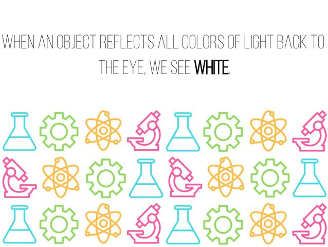 """The color seen when an object reflects all colors of light back to the eye."""