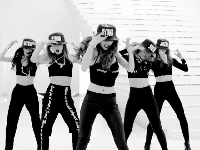 "It's ""Crazy!"" All that's missing are the bucket hats in the dance practice video."