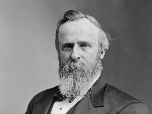 How did Rutherford B Hayes spend a late night?