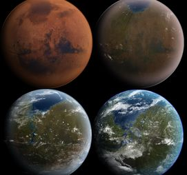 Land and get busy terraforming until Mars looks just like Earth