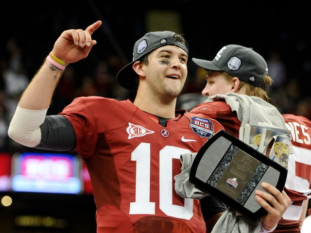 This season featured AJ McCarron breaking the Alabama record for career passing touchdowns in the National Championship game: