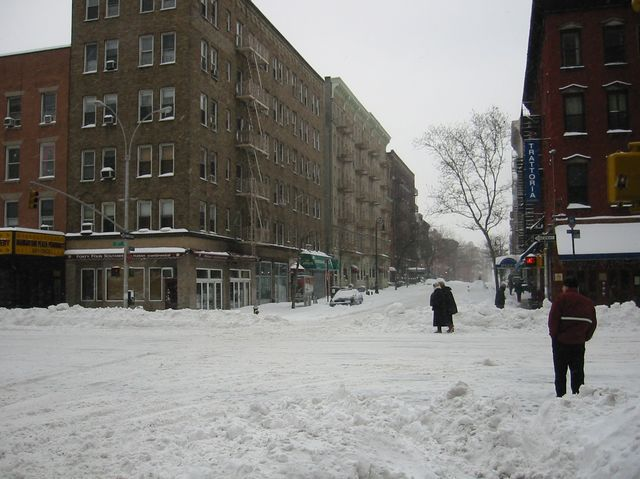 New York was hit with a major snowstorm on Tuesday, which of the following happened as a result of that storm?