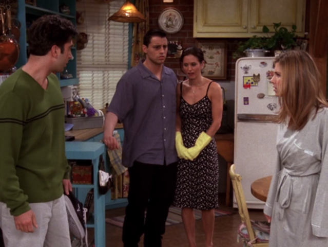 Why is Rachel mad at Ross in this scene?