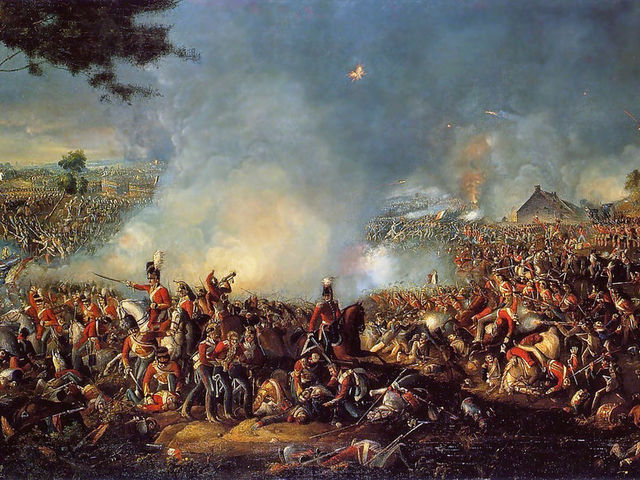 In what year did Napoleon Bonaparte lose at the Battle of Waterloo?