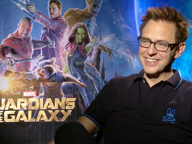 Director James Gunn was motion captured as which Guardians character?