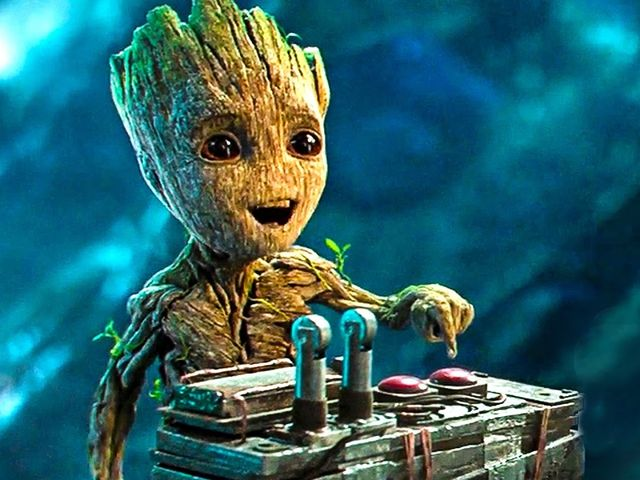 "In Dutch, Afrikaans, and Flemish, ""Groot"" means ""big."" Therefore Groot is saying ""I am big."""