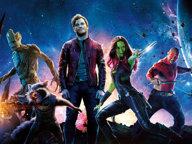 Guardians became the first Marvel film to break $300 million domestically at the box office without which actor?