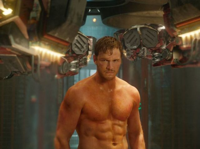 Chris Pratt lost 60 pounds for the role of Starlord. He says he found the role to be a mix of Han Solo and what other famous movie character?