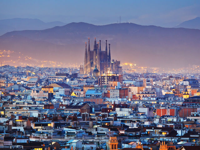 Barcelona... such a beautiful horizon! Yep, that's right, not a Lego toy town but the popular Spanish seaside city.  Enjoy the culture and then relax on the beach, what's not to love?  Top 10 Barcelona hotels:   http://top10.co/gbRXE07