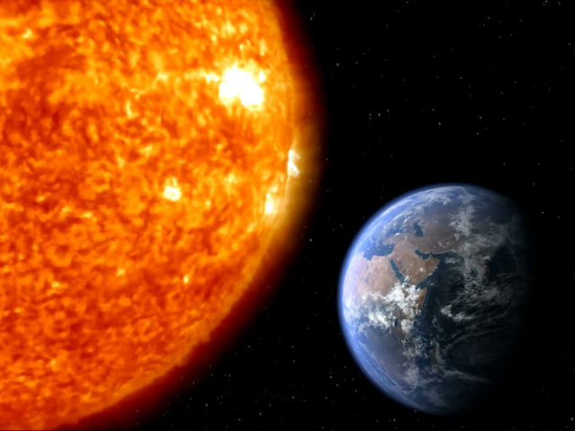 How far away is the Earth from the Sun?