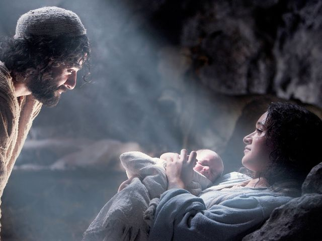 After being born in a stable, who were the first to come and see Jesus?