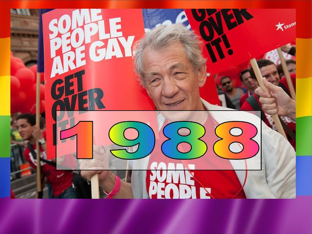 He came out in 1988 on BBC Radio 3 in response to the Government passing Section 28