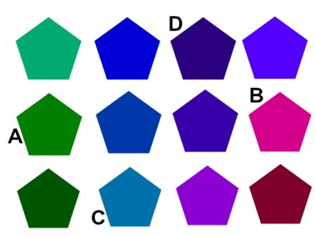 which shape is smaller than the others?