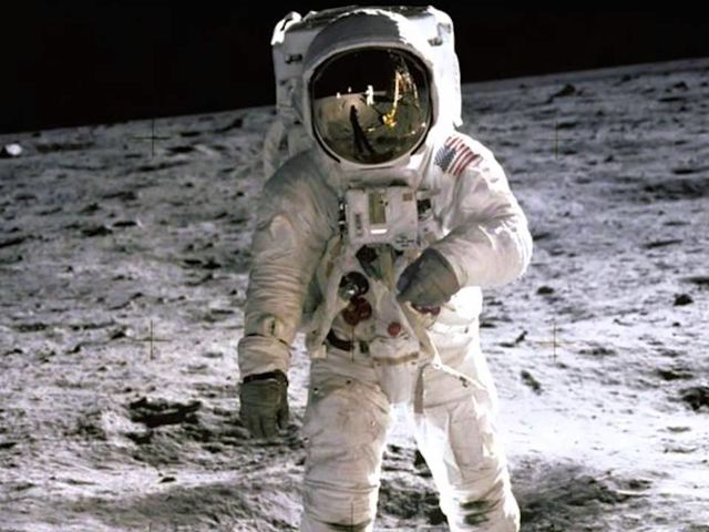 Neil Armstrong may have beaten him to be the first person to walk on the moon, but Aldrin will always be able to claim fame as the first person to urinate on it.