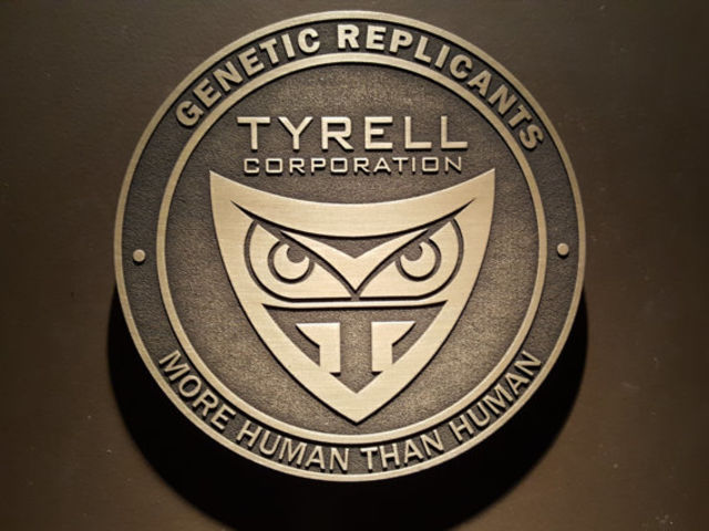 "Tyrell Corporation's motto is ""More Human Than Human."""