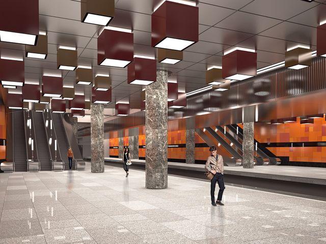 Эта станция будет выполнена в стиле индустриального района Москвы. Все вокруг будет напоминать о трудовом подвиге одного советского шахтера. А вспомнив его фамилию, вы без труда назовете и саму станцию.