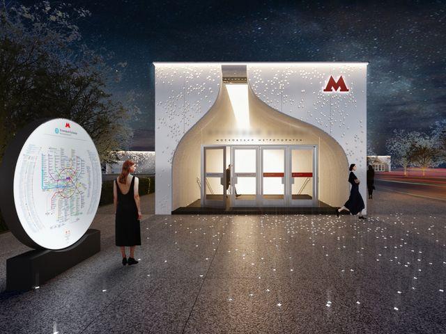 В дизайне этой станции отразится история царского села Коломенское – потолок наземного вестибюля и входа в кассовый зал сделают в форме купола.