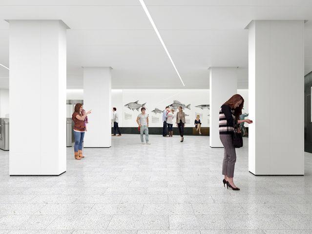 """А павильон этой станции украсят гигантские рыбы (на стенах будут изображения более чем 10 видов). Назовите эту """"рыбную"""" станцию столичной подземки."""