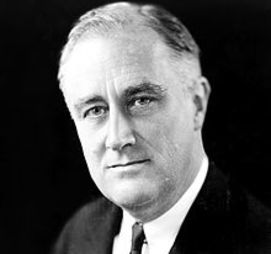 Franklin D. Roosevelt, American statesman and political leader who served as the 32nd President of the United States