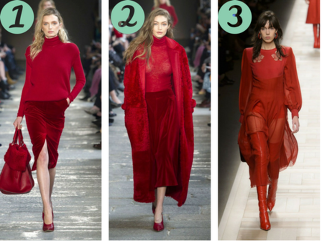 "Which ""power red"" style are you springing for?"