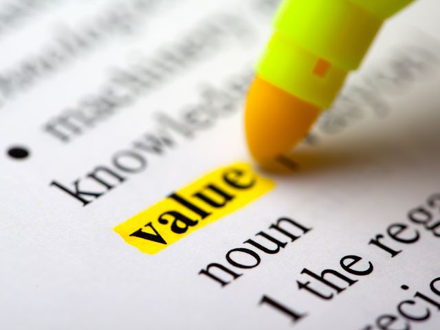 What do you value above all?