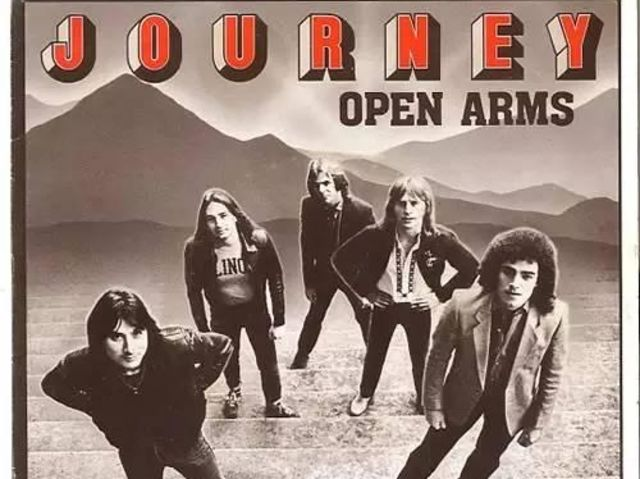 "Complete these lyrics from ""Open Arms"" by Journey: ""We _____ on together/We drifted apart/And here you are by my side."""