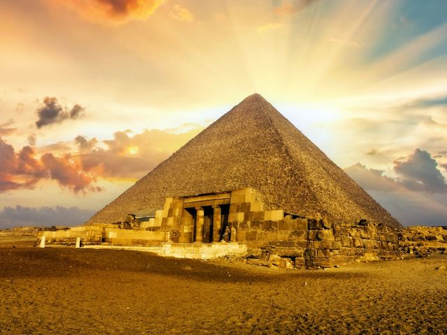 What was the primary purpose of the pyramids?