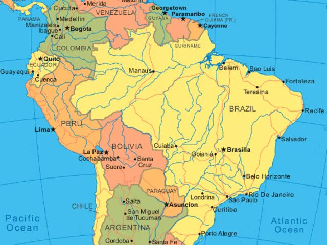 Brazil is the largest country in South America!