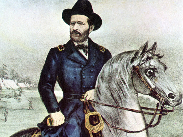 Ulysses S. Grant had to pay a speeding ticket for driving a horse-drawn carriage too fast.