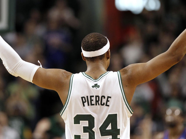 What future NBA coach did Paul Pierce play with in college?