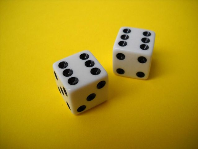 What are the odds of rolling two sixes with a pair of dice?