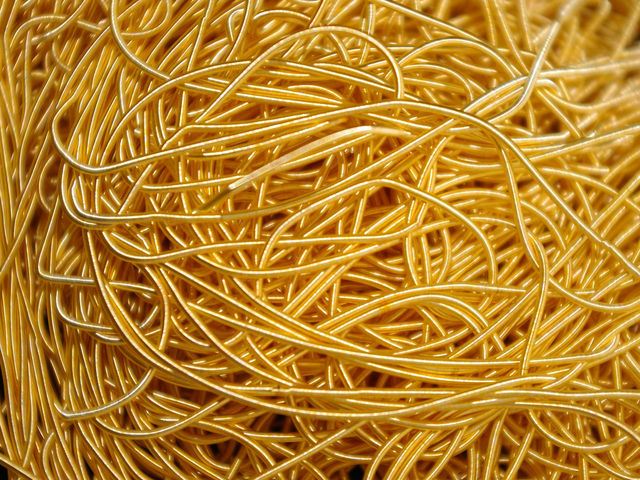 One ounce of gold can make 49.5 miles of wire thread.