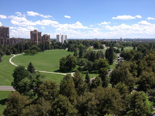 Which President got married near Cheesman Park in Denver?