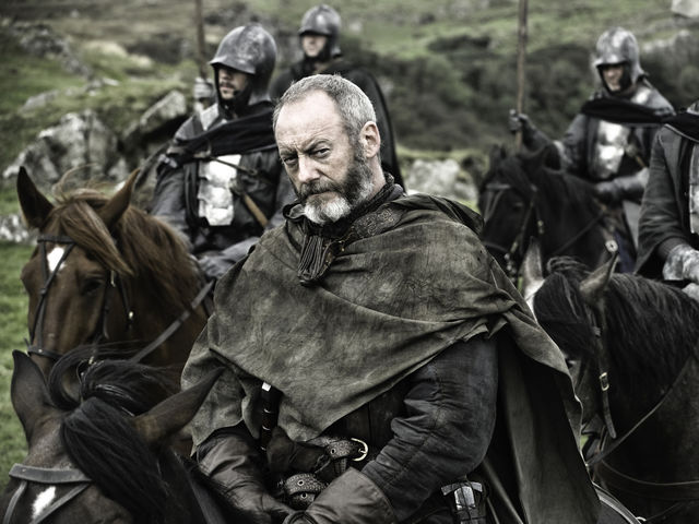 What is the name of the pirate that Davos gets to fight for Stannis?