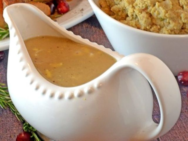 Giblets are used to make a delicious, creamy gravy!