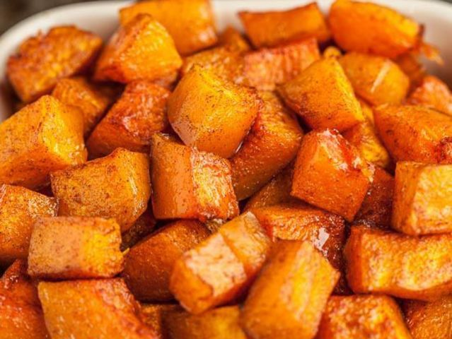 Have you ever tried cinnamon roasted butternut squash?!?