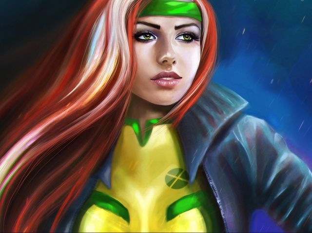 Who was Rogue's first boyfriend? (Hint: cheesy song from rapper with a cake flavor name)