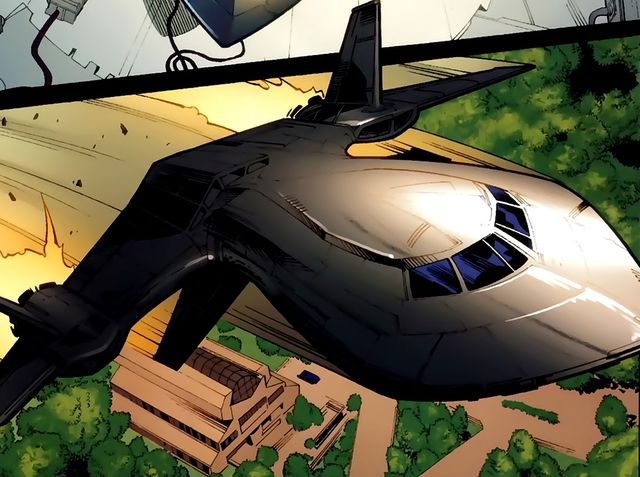 What is the name of the X-Men's ship? (Hint: Don't just a plane by its cover...)