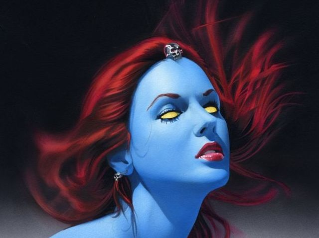 Who did Mystique have a son with?