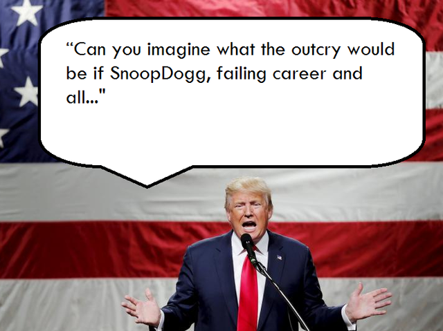"""Had aimed and fired the gun at President Obama? Jail time!""- Trump on Snoop Dogg."