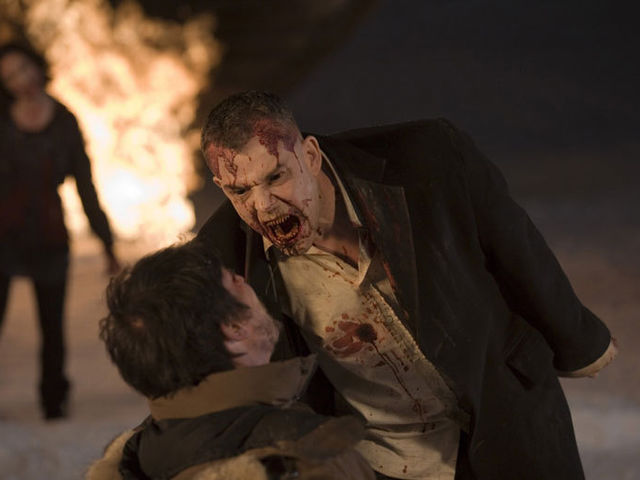Marlow is the ruthless head vamp in charge in 30 Days of Night and encourages his cronies not to turn their victims but behead them instead.